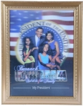 Barack Obama 3D Portrait - Obama First Family Picture