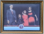Barack Obama Portrait - Obama Family Inauguration Picture