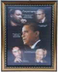 Barack Obama 3D Picture in Frame with some Greats